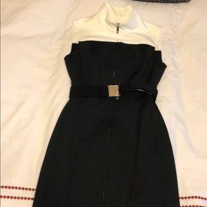 Size 4 Tommy Hilfiger Black and White zipper dress